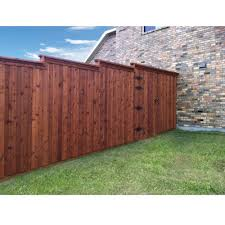 1 In X 6 In X 8 Ft 2 Wood Western Red Cedar Pre Stained Fence Picket Lsrbrcf21608 The Home Depot