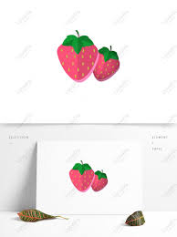3d Wind Cartoon Simple Fruit Plant Strawberry Psd Images Free