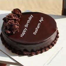 Girls Birthday Wish Chocolate Rose Cake For Resham Api