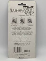 hair removal system 2 replacement pads