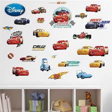 Disney Cartoon Racing Story Sticker Kids Room Car Sticker Painting Male Baby Bedroom Sticker Stickers Aliexpress