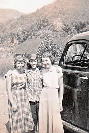 Photo: Norma Jean Austin, Fayola Lloyd, and Ada Lawson. Next to Ova Lowe's  truck and his barn in the background.   1 - Norma Jean (AUSTIN) Driggers  album   E. RAY AUSTIN  