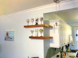 ideas for kitchen wall shelves floating