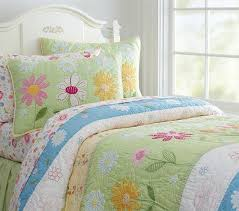 daisy garden quilted bedding pottery