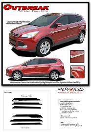 Outbreak Ford Escape Door Stripes Body Line Vinyl Graphics Decals Kit For 2013 2019 Models Vinyl Graphics Ford Escape Ford