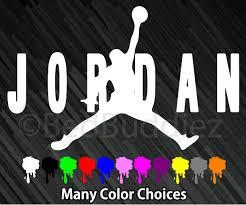 Michael Jordan Micheal Air Basketball Logo Symbol Car Vinyl Window Decal Sticker Vinyl Window Decals Window Decals Decals Stickers