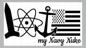 Love My Navy Nuke Window Decal Military Mama