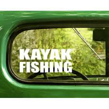 The Decal And Sticker Mafia 2 Kayak Fishing Decals Sticker For Car Window Bumper Laptop Jeep Rv