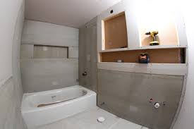 repair or install bathroom drywall