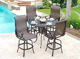bar height patio table and chair sets