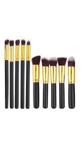 makeup brush set black 10 pcs