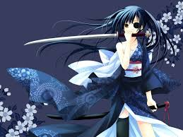 anime ninja girl | Anime - Women Ninja Girl Blue Eyepatch Kimono Katana  Samurai Yagyu ... | Anime kimono, Samurai anime, Anime