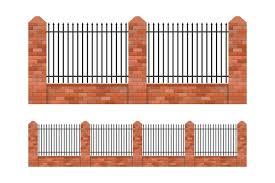 Brick And Steel Fences Download Free Vectors Clipart Graphics Vector Art
