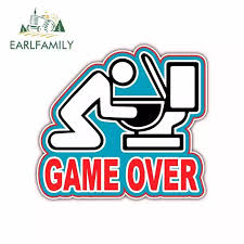 Earlfamily 13cm X 11 6cm For Game Over Throwing Up Drunk Drinking Fine Decal Graffiti Car Stickers Vinyl Car Wrap Pull Flower Car Stickers Aliexpress
