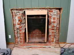 removing a brick fireplace