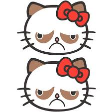 2x Grumpy Cat Hell No Kitty Hello Kitty No Cat Car Vinyl Window Decal Sticker For Sale Online