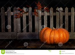 Fall Pumpkin Picket Fence Stock Image Image Of Picket 46068609