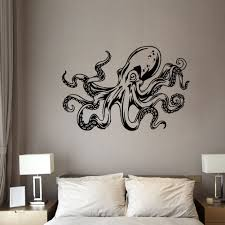 Octopus Wall Stickers Tentacles Kraken Decal Sea Animals Vinyl Wall Decals Nautical Wall Decals Bedroom Bathroom Decor Wall Stickers Aliexpress
