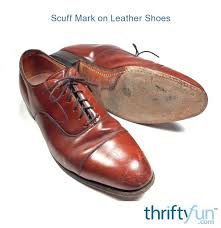 removing scuff mark on leather shoes