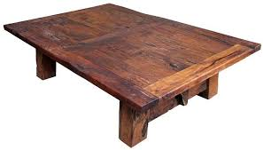large distressed mesquite coffee table