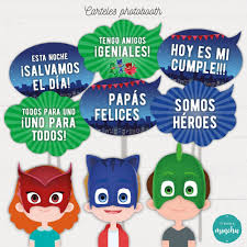 Kit Imprimible Cumpleanos Candy Bar Pj Mask Gatuno Gekko