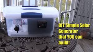 diy portable solar generator you