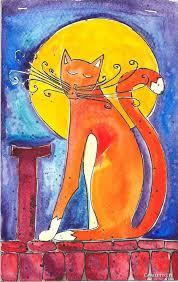 Znalezione obrazy dla zapytania: koty w malarstwie