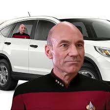 Capt Jean Luc Picard Passenger Window Decal Fanwraps