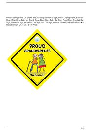 Calameo Proud Grandparents On Board Proud Grandparents Car Sign Proud Grandparents Baby On Board Sign Style Baby On Board Decal Baby Sign Baby Car Sign Road Sign Grandad Car Sign Nana