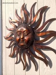 large metal sun wall decor rustic
