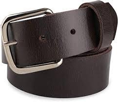 full grain leather belt w snaps for