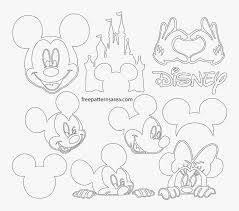 mickey mouse ears silhouette lineart