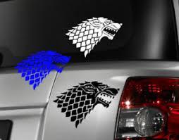 Game Of Thrones Direwolf Decal Vinyl Car Window Sticker Any Size Free Shipping Ebay