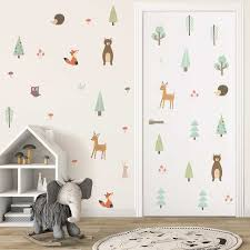 Home Decor Forest Tree Branch Animal Cartoon Wall Stickers For Children Bed Room Decor Kids Unitransbahia Com Br