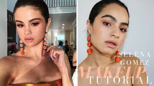selena gomez orange dream makeup