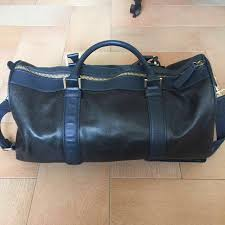 zara pvc leather navy duffel bag men s