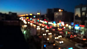 bokeh night light painting traffic
