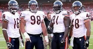 Mark Bradley, Dusty Dvoracek, Tommie Harris and JD Runnels. Oklahoma Bears  | Bear photos, Football helmets, Chicago bears