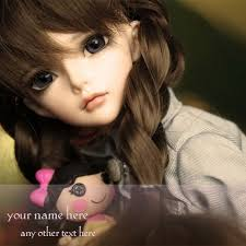 name on cute dolls images for whatsapp