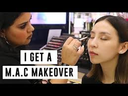 i get a makeover at m a c you