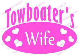 Towboater 39 S Wife Car Decal Car Decals Etsy Finds Decals