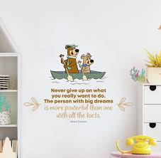 Design With Vinyl Big Dreams Yogi Bear Life Quote Vinyl Wall Decal Wayfair