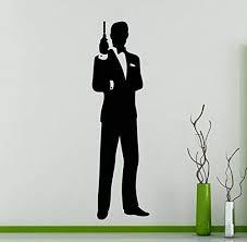Amazon Com James Bond 007 Wall Decal Secret Agent Vinyl Sticker Movie Film Home Decor Ideas Room Interior Wall Art 6 Bon Kitchen Dining