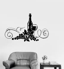 Vinyl Decal Wine Alcohol Drink Kitchen Decor Restaurant Wall Stickers Unique Gift Ig2616 Wall Stickers Unique Vinyl Vinyl Decals