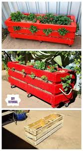 diy vertical strawberry planter from