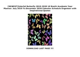 newest colorful butterfly month academic year planner