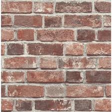 nextwall distressed red brick l and