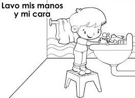 dibujos infantiles de higiene personal