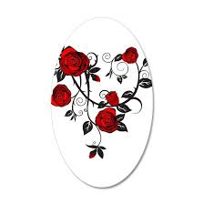 Red Rose Wall Decal By Custom Gifts Cafepress