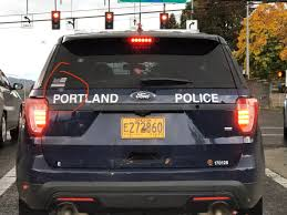 A Portland Police Officer Appears To Have Violated City Policy By Putting A Blue Lives Matter Bumper Sticker On A Patrol Vehicle Willamette Week